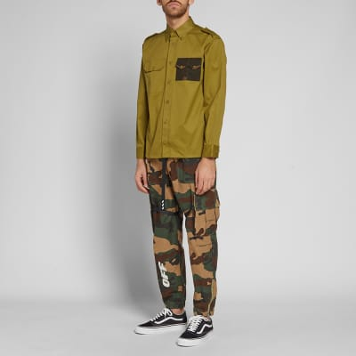 Gosha Rubchinskiy Gabardine Military Pocket Shirt