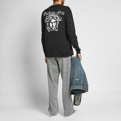 Versace Long Sleeve Japanese Script Tee