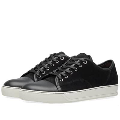 Lanvin Toe Cap Suede Low Sneaker