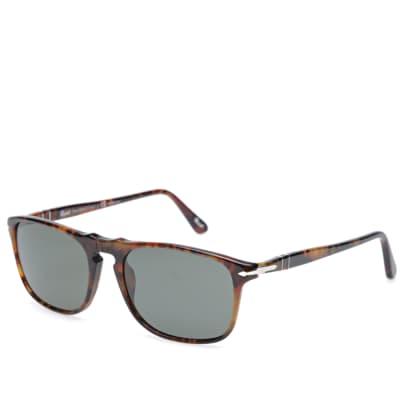 Persol 3059S Square Framed Polarised Aviator Sunglasses