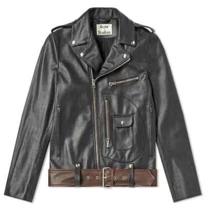 4d1a42e7c0 Acne Studios Ladd Washed Leather Jacket ...