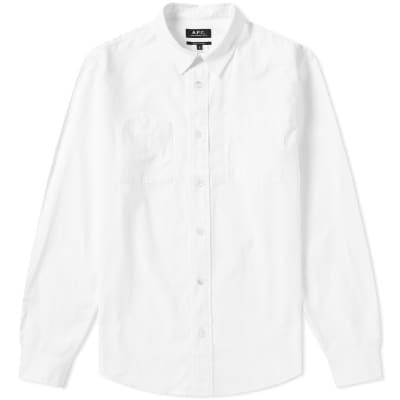 3a1eb3385ae7 A.P.C. Pocket Detail Shirt ...