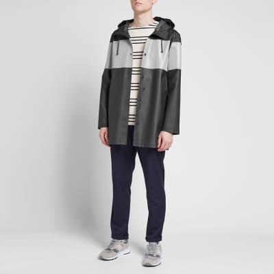 Stutterheim Stockholm Reflective Striped Raincoat