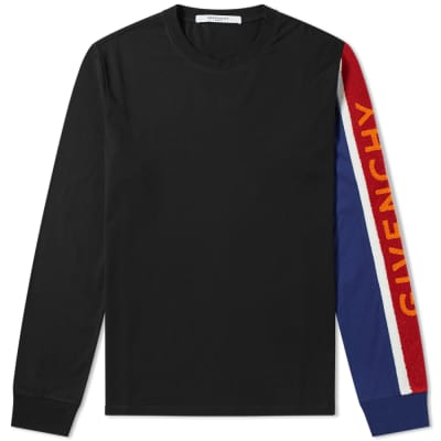 Givenchy Long Sleeve Towelling Logo Tee