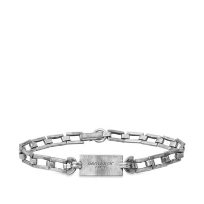 f66e2d8cd9ca Saint Laurent ID Tag Bracelet ...