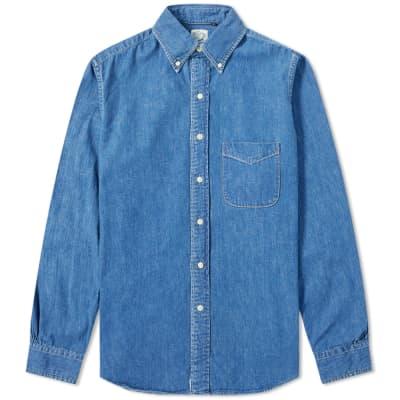 orSlow Button Down Denim Shirt
