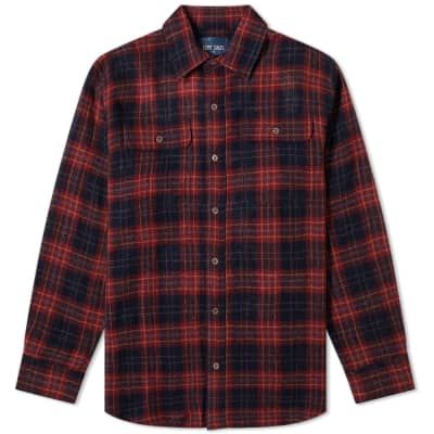 Lost Daze Quiet Night Plaid Button Down