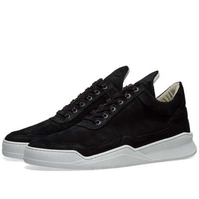 Filling Pieces Low Top Ghost Suede Sneaker