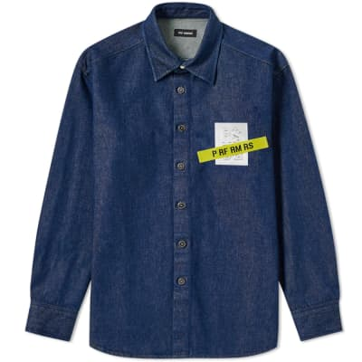 a29c4464e687d Raf Simons Tape and Patch Denim Shirt ...