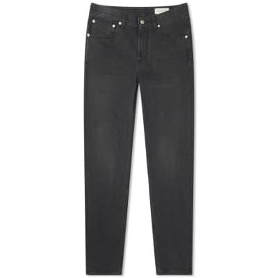 Alexander McQueen Chain Stitch Pocket Logo Slim Jean