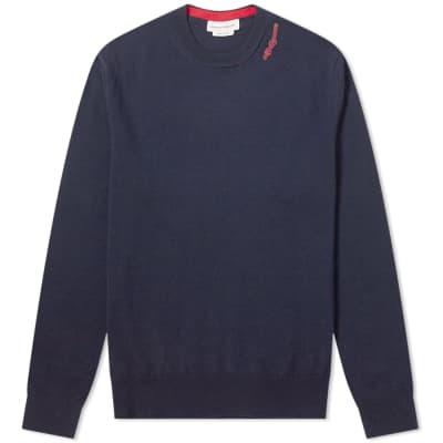 Alexander McQueen Logo Crew Knit