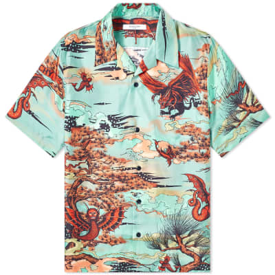 Givenchy Winged Beast Silk Hawaiian Shirt
