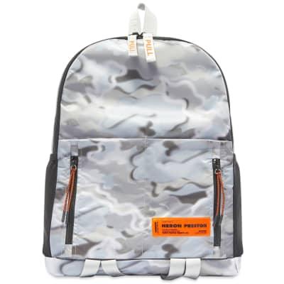 Heron Preston Zip Round Logo Backpack