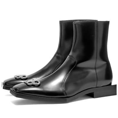 Balenciaga BB Leather Chelsea Boot