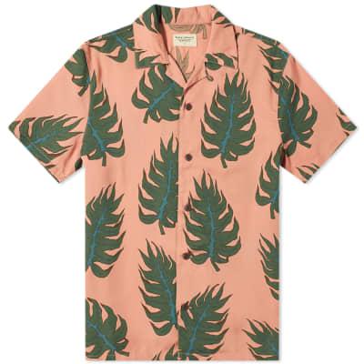 Nudie Short Sleeve Arvid Leaf Shirt