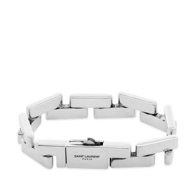 Saint Laurent Rectangle Link Bracelet