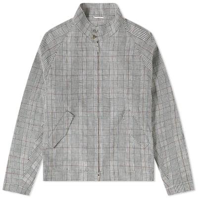 Thom Browne Crisp Check Linen Harrington Jacket