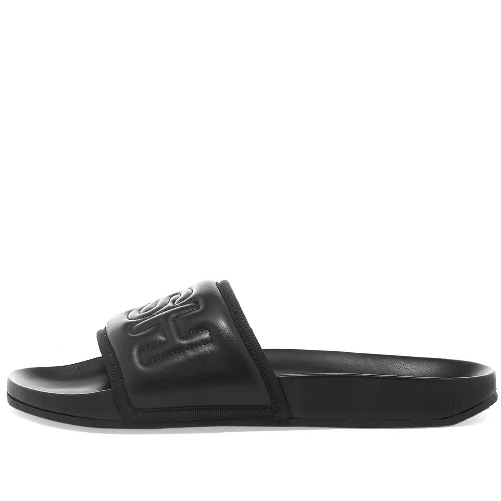 Ambush Padded Leather Pool Slide - Black