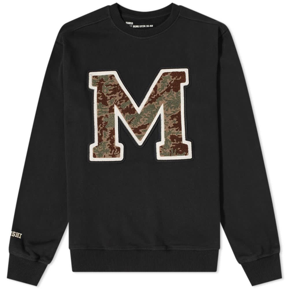 Maharishi MA23 Embroidered Crew Sweat - Black