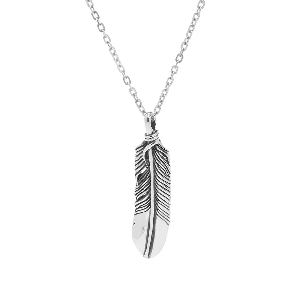 Ambush Feather Charm Necklace - Silver