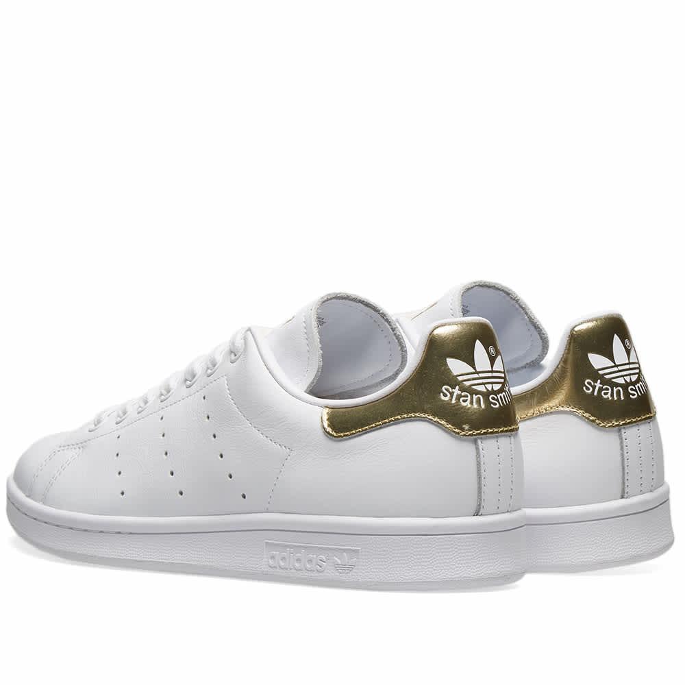 Adidas Stan Smith W White \u0026 Gold