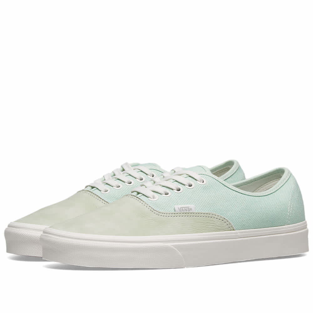 Vans UA Authentic - Pastel Green & Blanc