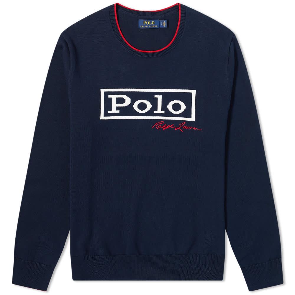 Polo Ralph Lauren Block Logo Crew Knit - Gentle Navy