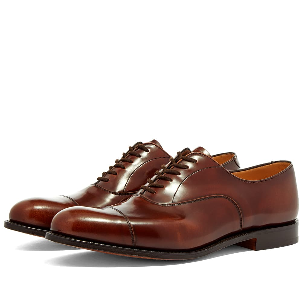 Church's Duabi Polished Leather Oxford Shoe - Tabac