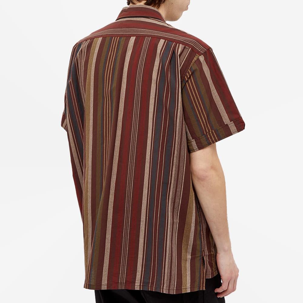 Engineered Garments Patchwork Stripe Camp Vacation Shirt - Brown