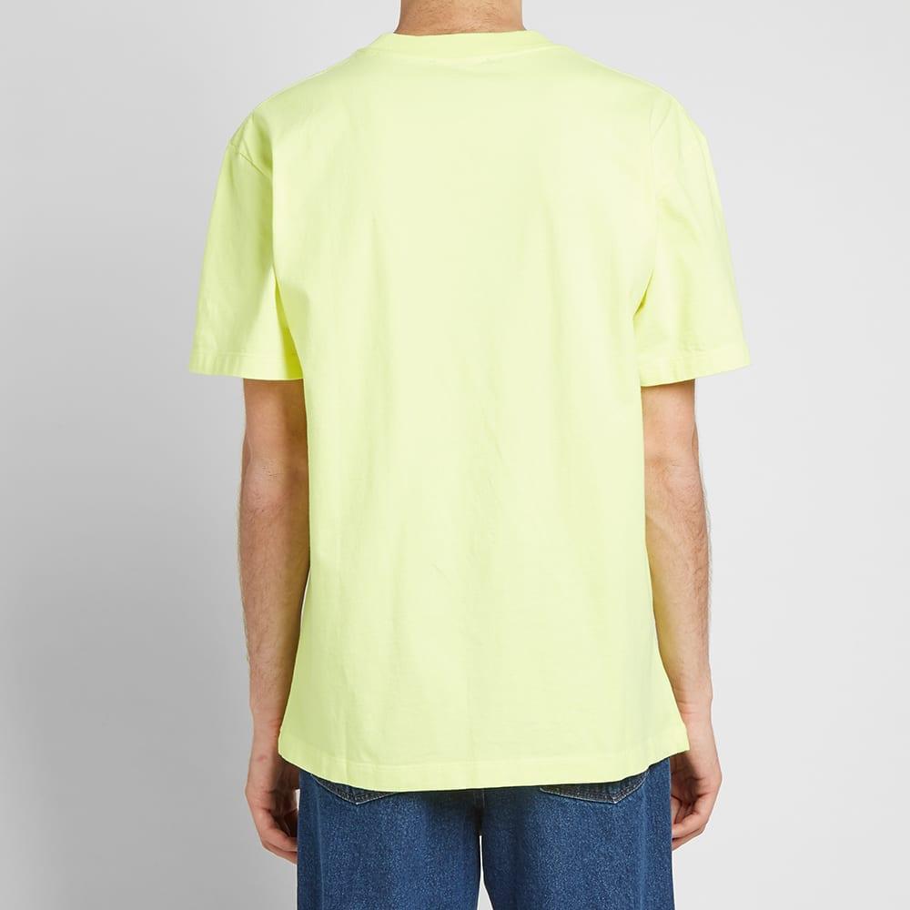 Olaf Hussein ØLÅF Italic Tee - Neon Yellow