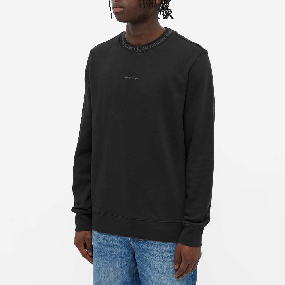 Calvin Klein Logo Jacquard Crew Sweat - CK Black