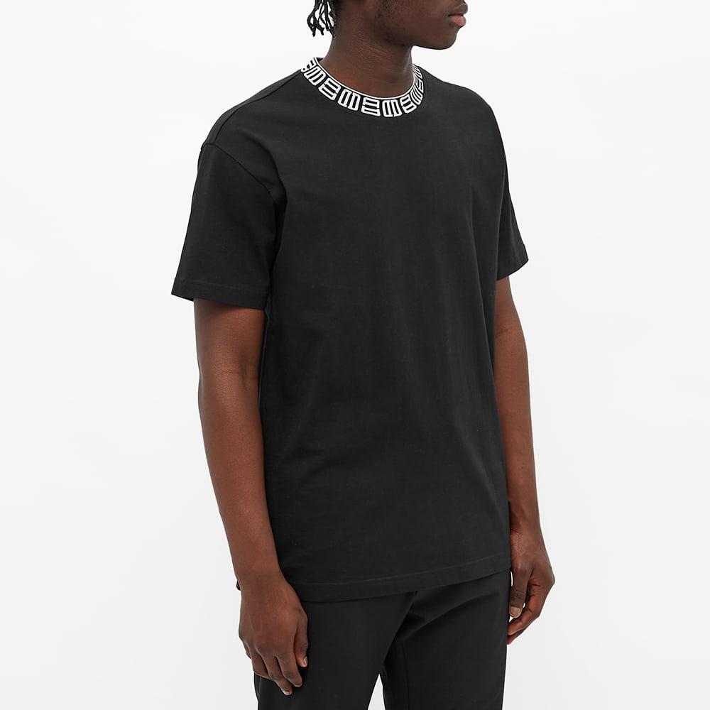 Ambush Monogram Rib Collar Tee - Black