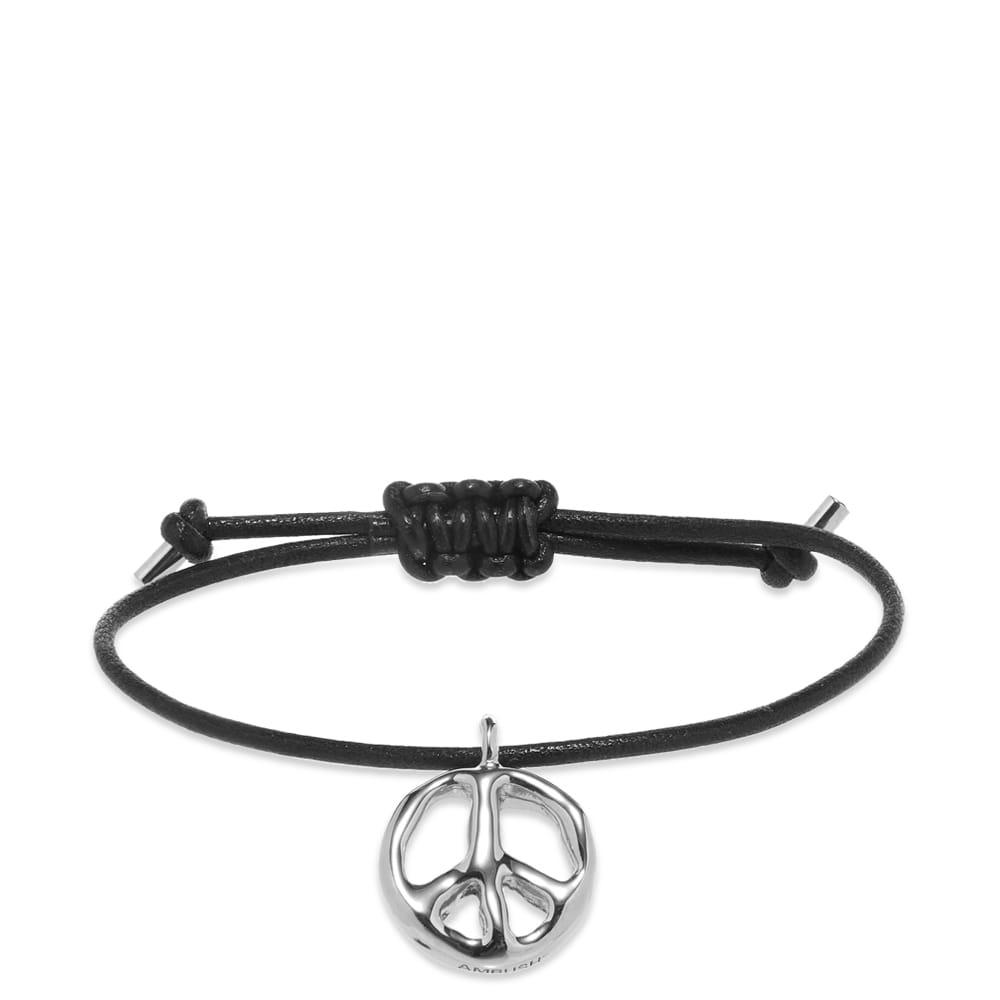 Ambush Peace Leather Bracelet - Silver
