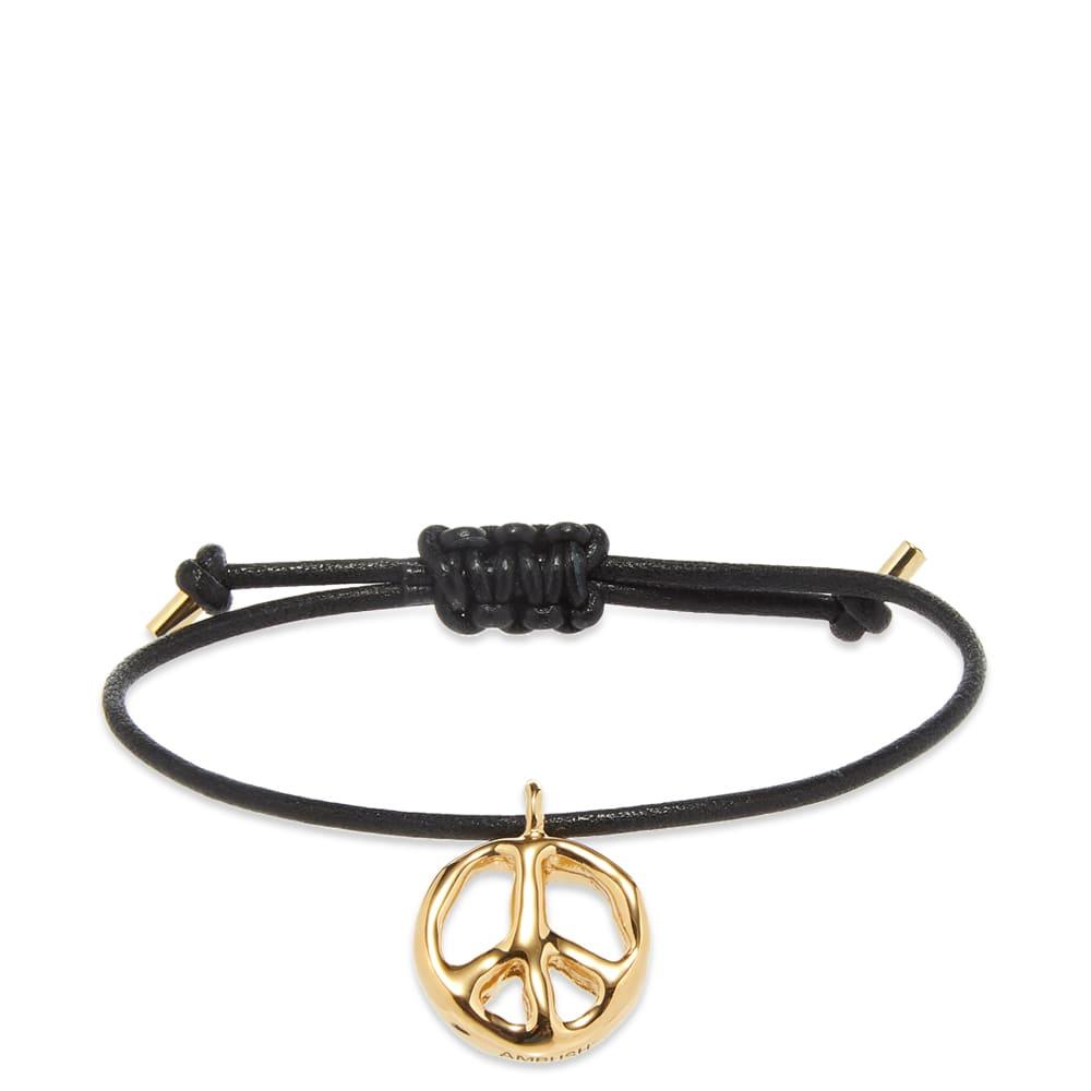 Ambush Peace Leather Bracelet - Gold