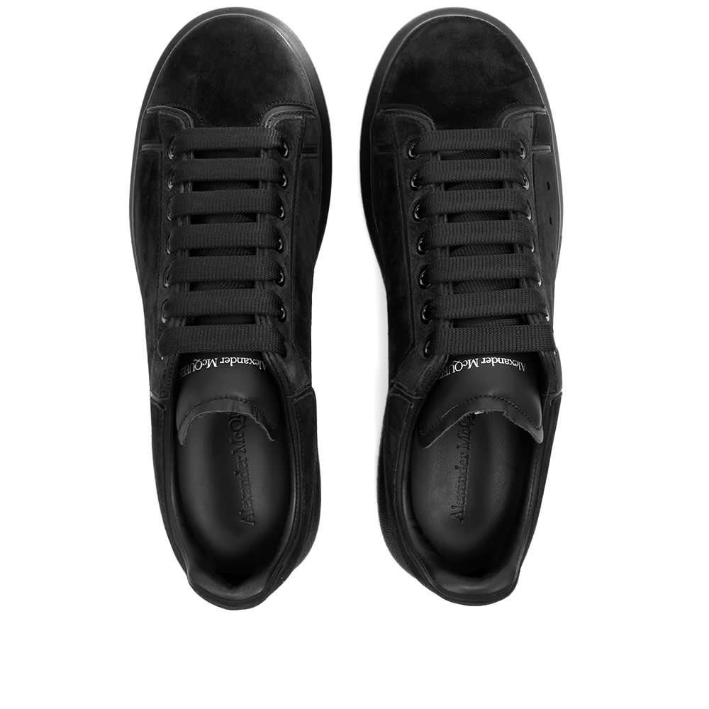 Alexander McQueen Restructured Wedge Sole Sneaker - Black & Black