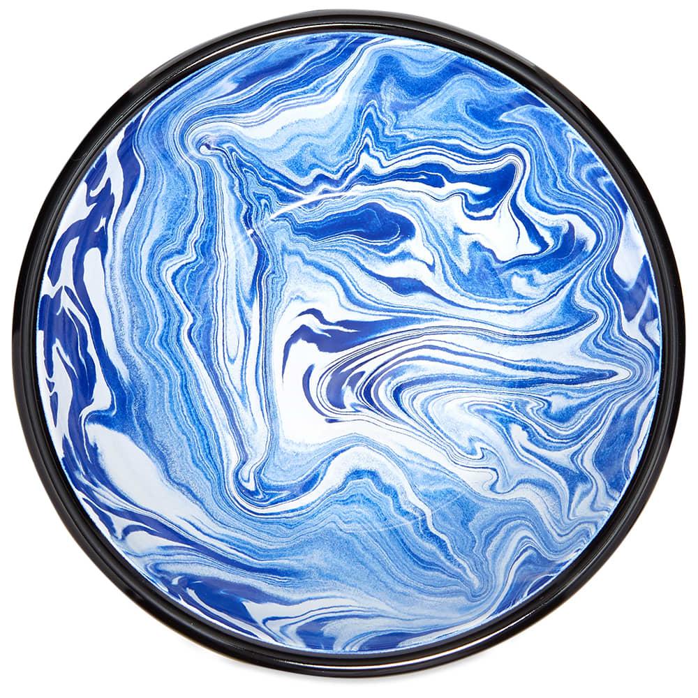 BORNN Enamelware Classic Marble Salad Bowl - Blue