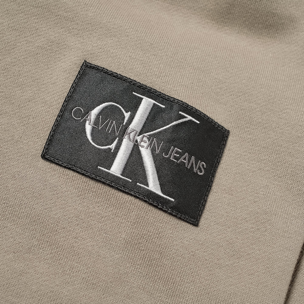 Calvin Klein Monogram Sleeve Badge Popover Hoody - Elephant Skin