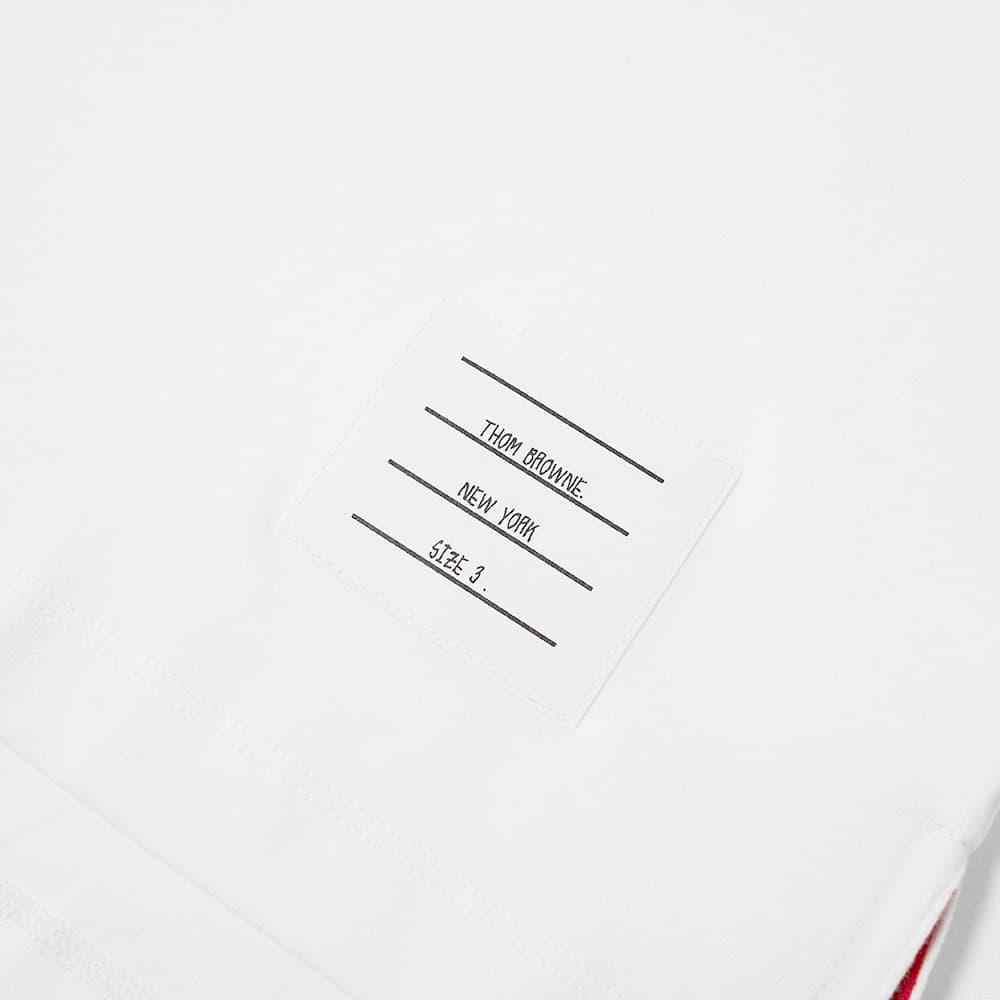 Thom Browne Side Split Classic Tee - White