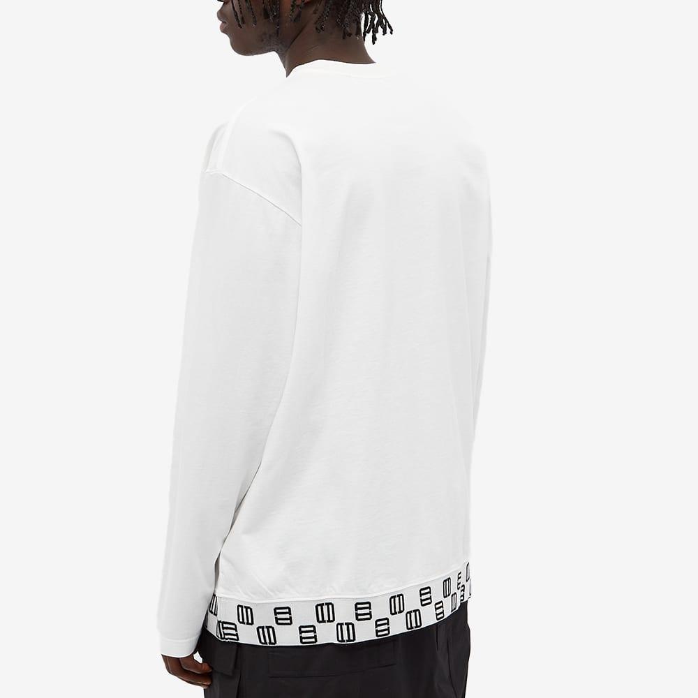 Ambush Long Sleeve Monogram Rib Tee - Off White & Black