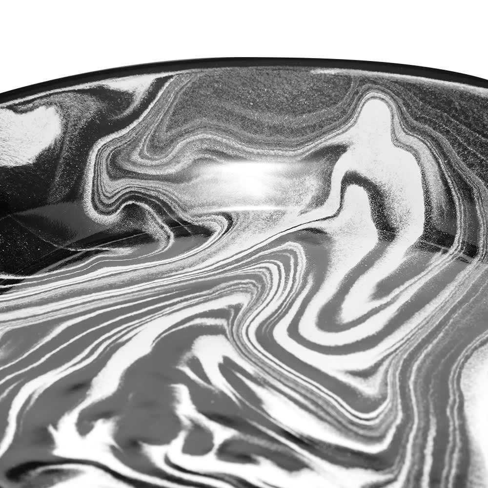 BORNN Enamelware Classic Marble Small Plate - Black