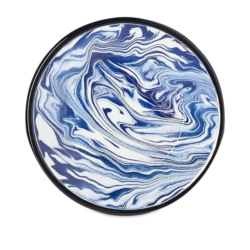 BORNN Enamelware Classic Marble Small Plate - Blue