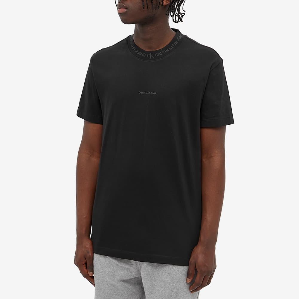 Calvin Klein Logo Jacquard Tee - CK Black