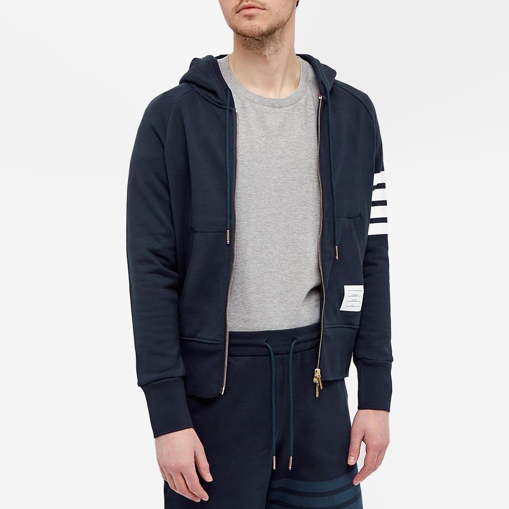 Thom Browne Engineered Stripe Hoody - Navy