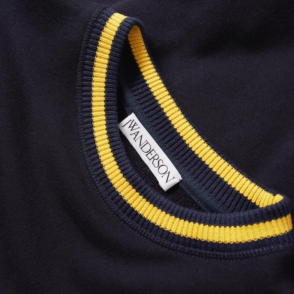 JW Anderson Logo Varsity Crew Sweat - Navy