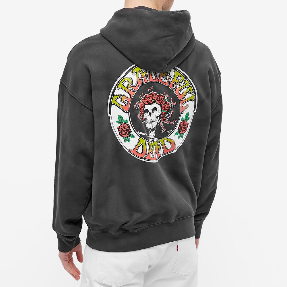 Levis Vintage Clothing x Grateful Dead Skull Print Popover Hoody - Black