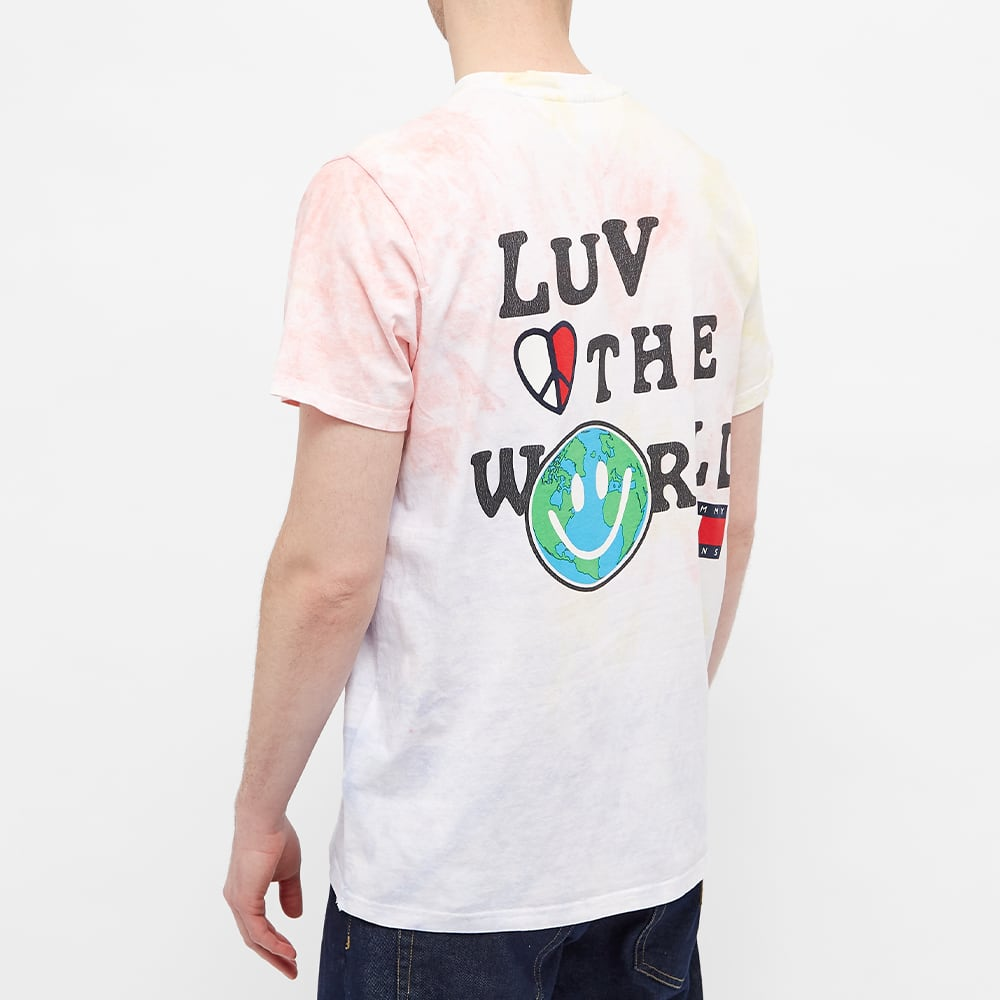 Tommy Jeans Tj Us Luv The World Tee - Tie Dye