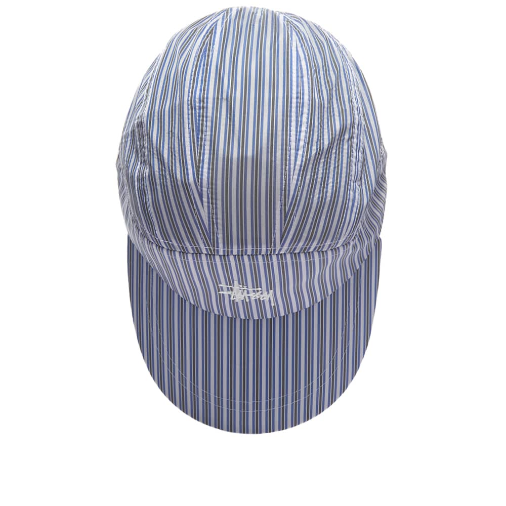 Stussy Shirting Stripe Runner Cap - Blue
