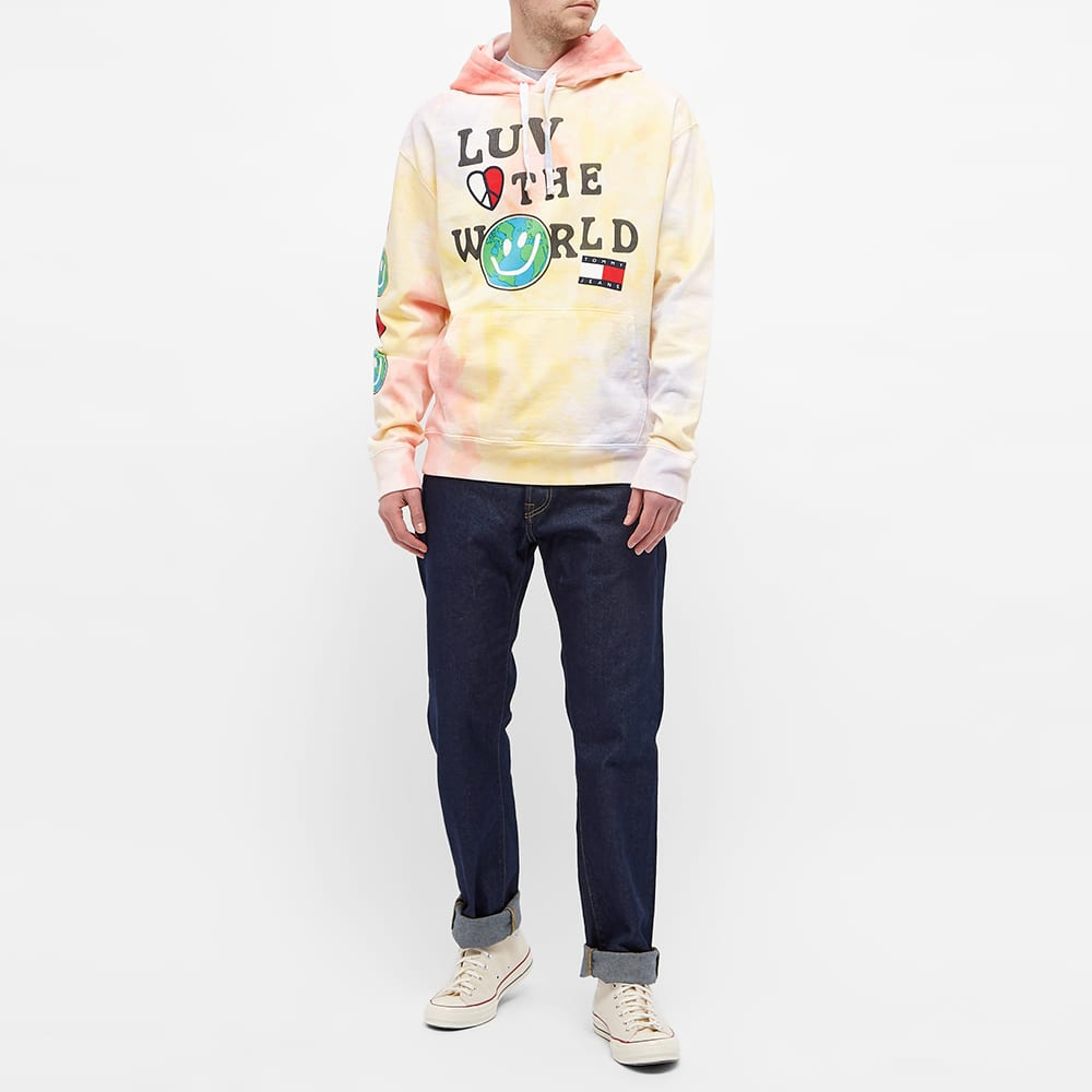 Tommy Jeans Tj Us Luv The World Hoody - Tie Dye