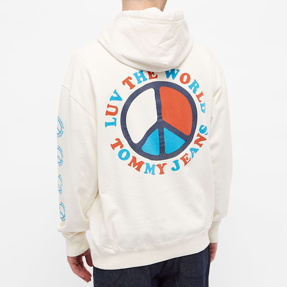 Tommy Jeans Tj Us Luv The World Hoody - Ivory Petal