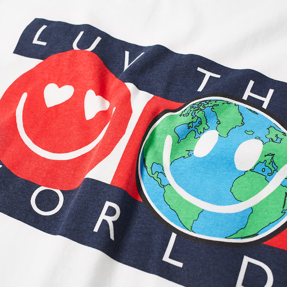 Tommy Jeans Tj Us Luv The World Tee - White